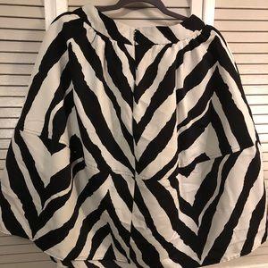 Express Skirts - Zebra Print Knee Length Skirt